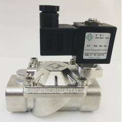 Solenoid valve 3/4 21X3KT190 Stainless Steel 316 PTFE teflon gaskets