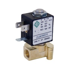 "2-way solenoid valve 1/8 ""21JN1R0V12 water, coffee, air, mineral oils, petrol, diesel"