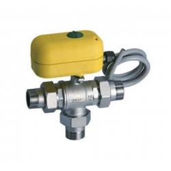 valvola di zona a sfera deviatrice FAR rubinetterie spa elettrovalvole motorizzate a 3 vie 3/4 motore 220v 3001203440